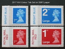 2017 M17L SET 1st, 1st Large, 2nd, 2nd Large NVI on SBP2 Paper - COLOUR TABS