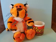 "6""  GALERIE REESES PEANUT BUTTER CUPS CANDY TIGER PLUSH and Cup"