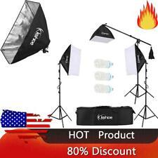 Kshioe 65W Photo Studio 3 Soft Box Light Stand Continuous Lighting Kit Diffuser