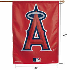"ANAHEIM Angels  Flag & pole MLB Baseball 28"" x 40""  ""BIG A"" mike trout"