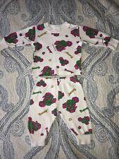Vintage Barney The Dinosaur 2 Piece Pajama Set 18 Months