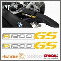 2x R1200GS White/Yello BMW ADESIVI R1200 GS PEGATINA STICKERS AUTOCOLLANT R 1200