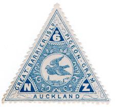 (I.B-CK) New Zealand Cinderella : Great Barrier Island Pigeon Post 6d