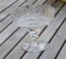 Rosenthal vidrio fußschale accesorio Martin Freyer relief vidrio eisglas arte de vidrio