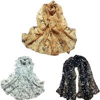 1PC Elegant  Women Lady Musical Note Chiffon Neck Scarf Shawl Muffler Scarves