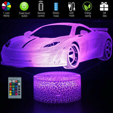 Car 3D Night Light Remote Control USB LED Illusion Table Lamp for Kids Boy GIFT