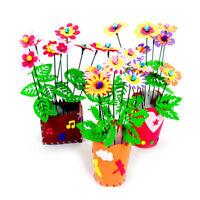Handmade EVA Flower Pot Toy Kids DIY Craft Kit Creative Early Educational toyTG