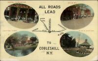 Cobleskill NY Multi-View c1910 Postcard