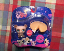 NEW RETIRED! Littlest Pet Shop #645 Fuzzy Brown Bear Fortune Cookie *GENTLE BARN