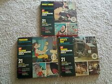 GAF Talking Viewmaster Reels Lot of 3 Apple's Way, Mickey Mouse, Pinocchio