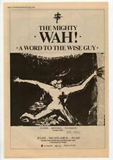 Mighty Wah! The A Word To The Wise Guy Advert NME Cutting 1984