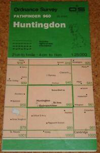 UK ORDNANCE SURVEY Pathfinder (1:25000) Map 960 - Huntingdon, Godmanchester