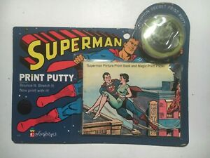 1966 Colorforms SUPERMAN PRINT PUTTY Sealed on CARD