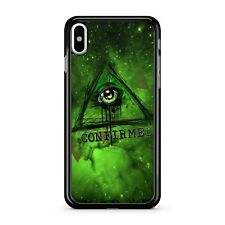 Illuminati Confirmed One Eyed Space Pyramid Green Galaxy Sky Phone Case Cover