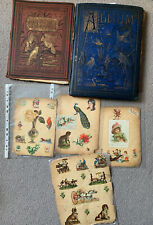 More details for pair of victorian scrapbooks and loose pages. antique old scraps scrap book