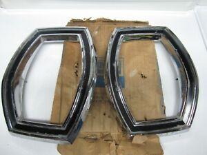 65 Ford Custom Galaxie 500 LTD Tail Light Bezel Chrome Pair NOS C5AZ-13489-D