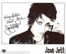 Joan Jett legendary Reprint Signed 8x10 Photo RP Joan Jett & the Blackhearts