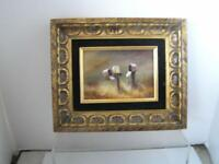 Original Oil Painting Mail boxes by Listed California ARTIST Beverly M. Hoebel