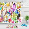 "Watercolor Boho Elements Shower Curtain Liner Bathroom Waterproof Fabric 72x72"""