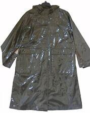 Women's Pvc Wet look Glanz Jacket Coat Nylon  Vinyl DKNY raincoat. M
