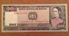 Bolivia Banknote. 1000 Pesos. Dated 1982