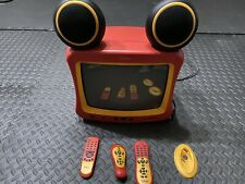 """DISNEY 13"""" MICKEY MOUSE CRT COLOR TV WITH REMOTE TESTED WORKING MODEL DT1350-C"""