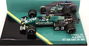 RARE BUILT TAMEO BENETTON TYRRELL FORD 011 M.ALBORETO 1ST USA GP 1983   1/43 F1