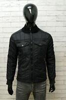 GUESS Uomo Giacca Piumino Nero Taglia S Giubbotto Giubbino Cappotto Jacket Man