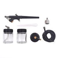 Air Brush Car Spray Gun Kit Air Compressor Paint Hobby Art Tattoo Cake