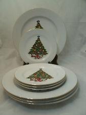 "Sea Gull Fine China SGU1 Christmas Tree 4-10+"" Dinner 4-6+"" Bread Dessert Plate"