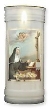 Candle ST RITA DEVOTIONAL PRAYER PICTURE Impossible Pregnancy 72H FREE DELIVERY