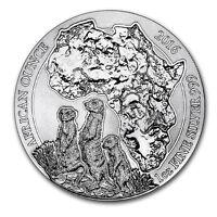 2016 Rwanda 1 oz Silver African Wildlife Series Meerkat