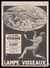 1921 Black Americana Negro juggling with lightbulbs Visseaux Vintage Print Ad Z1