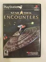Star Trek Encounters - Sony Playstation 2 PS2 Video Game 100% COMPLETE TESTED