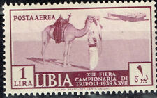 Lybia Italian Colony Aircraft over Camel and Bedouin stamp 1939 MLH