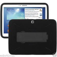 "Samsung Galaxy Tab 3 10.0"" P5200/P5210 Hybrid Armor Case w/Kickstand Black"
