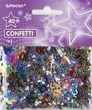Paquete De 2 cuadragésimo aniversario de confeti / Cuadro De Zarzamora Multi Colores Mesa Decoraciones