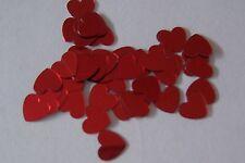100 Tiny Red Heart Die Cut Metallic Foil/Scrapbook Confetti Paper Punches