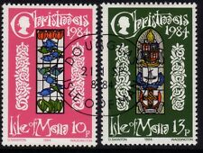 Isle of Man 1984 Christmas SG 272-3 CTO/FU