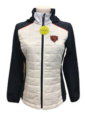 G-III 4her Chicago Bears Women's First Down Packable Jacket - White/Navy