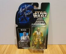 """STAR WARS BOSSK 3.75"""" Figure 1997, signed by Alan Harris, MOC, Great Condition"""