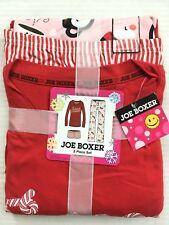 Joe Boxer 3 Piece Sweet Dreams Pajama Set Size M Candy Cane Christmas Loungewear