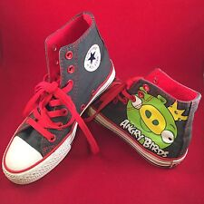 Angry Birds Converse Green King Pig All Star High Tops YOUTHS Size 3 US Shoes.