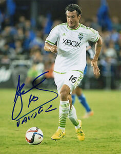 NELSON VALDEZ SIGNED 8X10 PHOTO SEATTLE SOUNDERS FC SOCCER MLS CUP CHAMPIONS