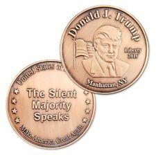 U.S. Donald Trump Manhattan NY | The Silent Majority Speaks | Bronze Plated Coin