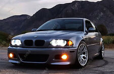 BMW E46 NON PROJECTOR HALO RING LED SMD REFLECTOR SUPER WHITE Angel Eye LIGHTS