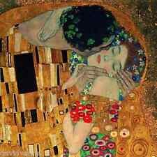 Gustav Klimt - The Kiss 12 x 12 inch on Zweigart Needlepoint Canvas