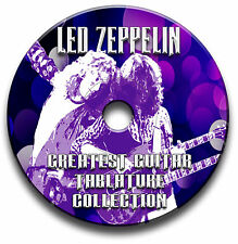 LED ZEPPELIN ROCK GUITAR TAB TABLATURE SONG BOOK ANTHOLOGY SOFTWARE CD
