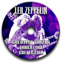 LED ZEPPELIN ROCK GUITAR Scheda tablature CANZONIERE ANTOLOGIA CD del software