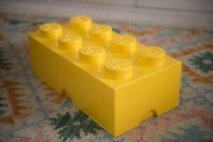 Genuine LEGO stackable storage box, yellow 8 stud